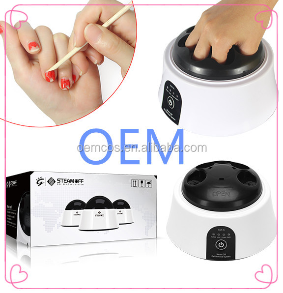 2017 New machines remove quickly gel nail polish cosmetics cleaner Steam off gel polish removal machine