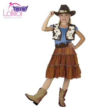 Factory direct supply custom kids fantasy cowgirl halloween dress costume for girl  sc 1 st  Alibaba & Factory Direct Supply Custom Kids Fantasy Cowgirl Halloween Dress ...