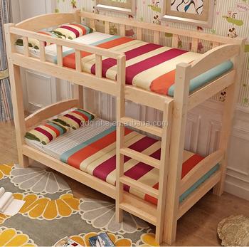 Top Sale Solid Wood Pine Bunk Bed Bedroom Wooden Bed Strong Kid S