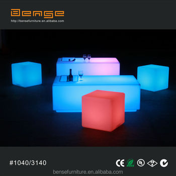 LED Light Up Table LED Table And Chair For Event With Ice Bucket