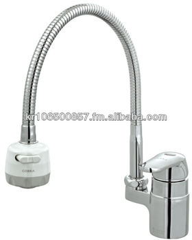SAMWON COBRA Flexible COBRA Faucet MFS 312 Chrome Brass Kitchen Sink One  Hole Mixer Tap
