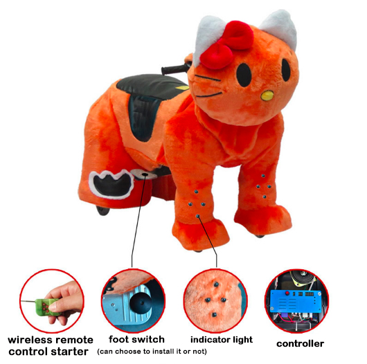 2019 Newest battery operated animal electric ride coin operated animal scooters