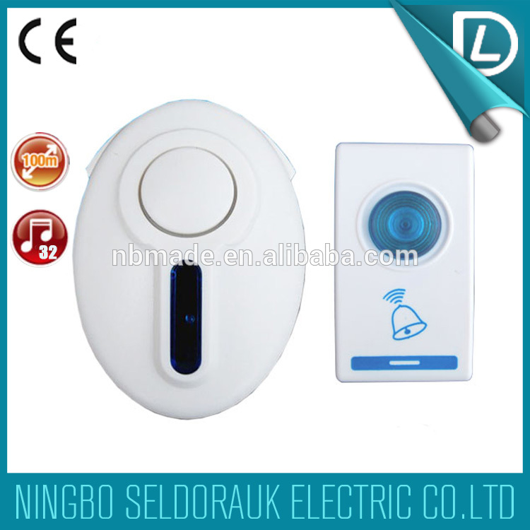 Direct factory supply ABS plastic material new wireless door bell
