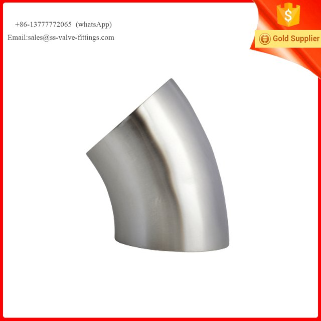 Stainless Steel Sanitary pipe Fittings 45 degree elbow short type