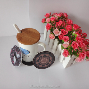 New products China supplier home decor OEM paper drink cup coaster/mat