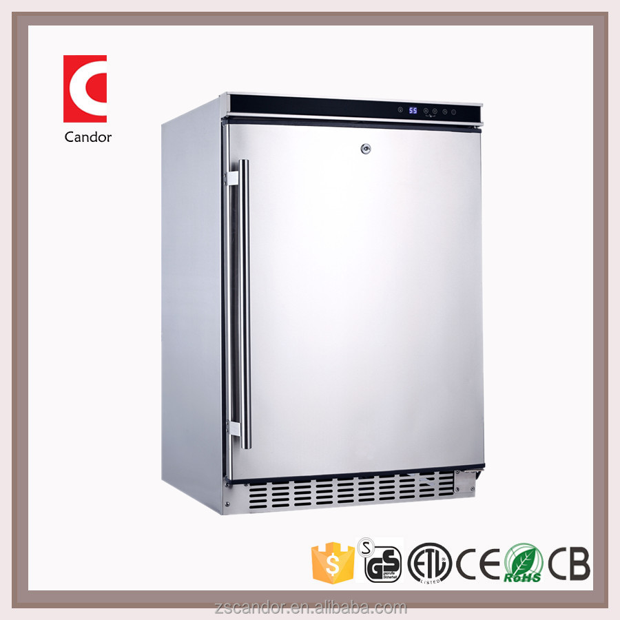 Candor: 145 Liters Stainless Steel Kitchen Storage Cabinet Single Door Under Counter Fridge/Outdoor Cooler BC-145B1EQ