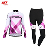 OEM Custom Blank Girls mountain bike jersey/cycling jersey sets