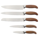 2018 Novelty products promotional 5 pcs wood grain printing handle 3CR14 blade kitchen knives