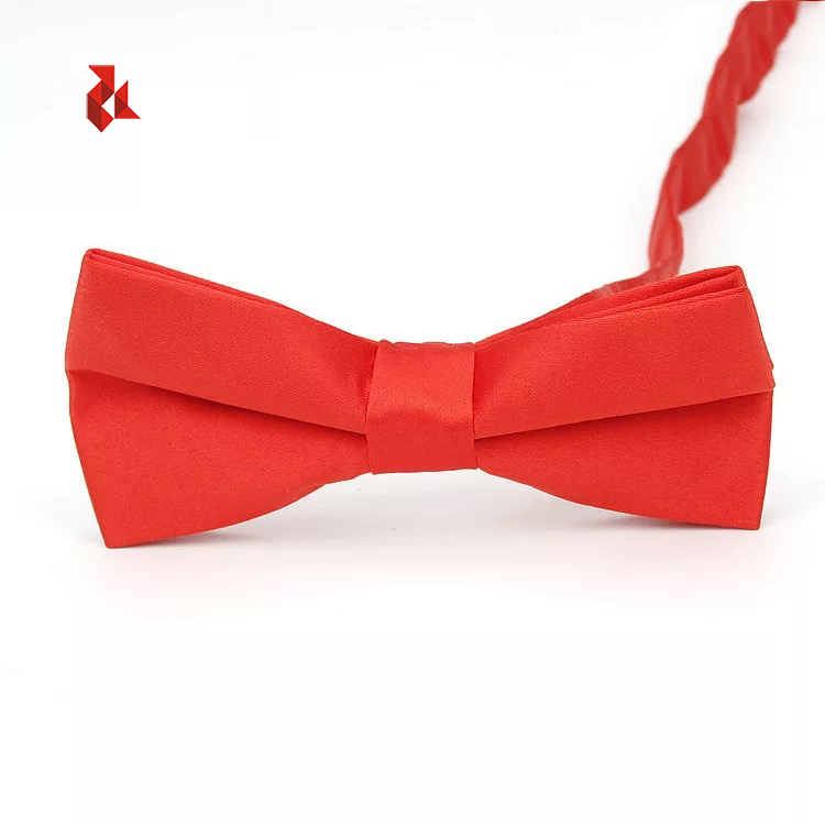 Various Color Pink Plain Bowties Red Satin Polyester Bow Ties Men Adult