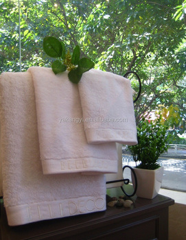 Nice Gift Cotton Hotel Product Embroidery Design Fancy Hand Towels