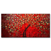 Hot Sell Modern Knife Red Tree Paintings for Hotel