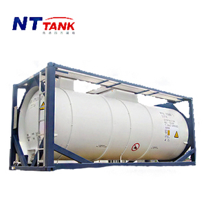 DNV approved 20' shipping ISO transportation portable PE rubber lining tank