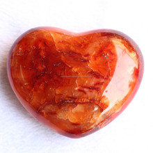 natural red carnelian stone hearts, crystal stone hearts