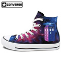 New Unique Police Box Tardis Galaxy Doctor Who Converse All Star Canvas Shoes Design Hand Painted