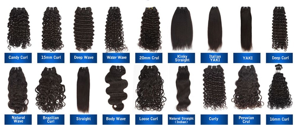 Various Types Of Curly Weave Hair,100 Human Hair,Unprocessed ...