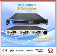 Radio & TV Broadcasting Equipment ip scrambler with multiplexer COL5300B