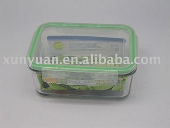 Pyrex Glass Food Storage Containers And Plastic Lids With Silicone