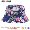 custom print bucket hat/plain bucket hat wholesale/floral printing bucket hat