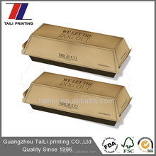 Custom printed kraft hot dog box/hot dog packaging/food packaging box