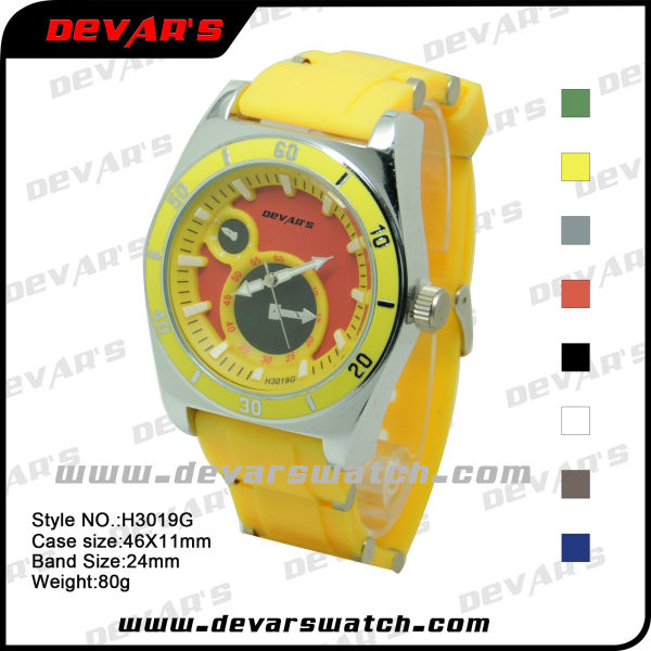 2013 best mens watches hot sale china OEM custom watches made in china no name watches silicone strip whats men