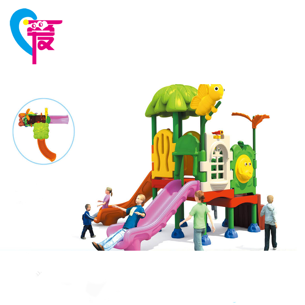HC-6702 Lovely Animals Amusement Slide Mat Children's Outdoor Playground Equipment
