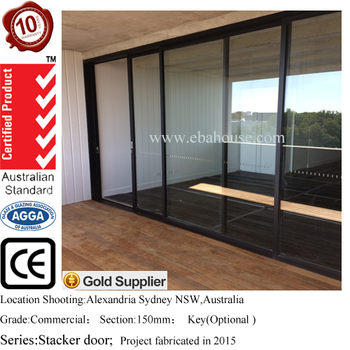 Aluminium Doors Exterior Glass Panel Garage Door Aluminum Sliding Door  Handle And Lock Doric AS2047