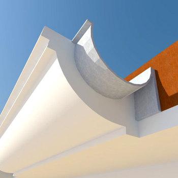 Polystyrene cornice for decorating gutter buy decorative roof cornice product on - Corniche decorative polystyrene ...