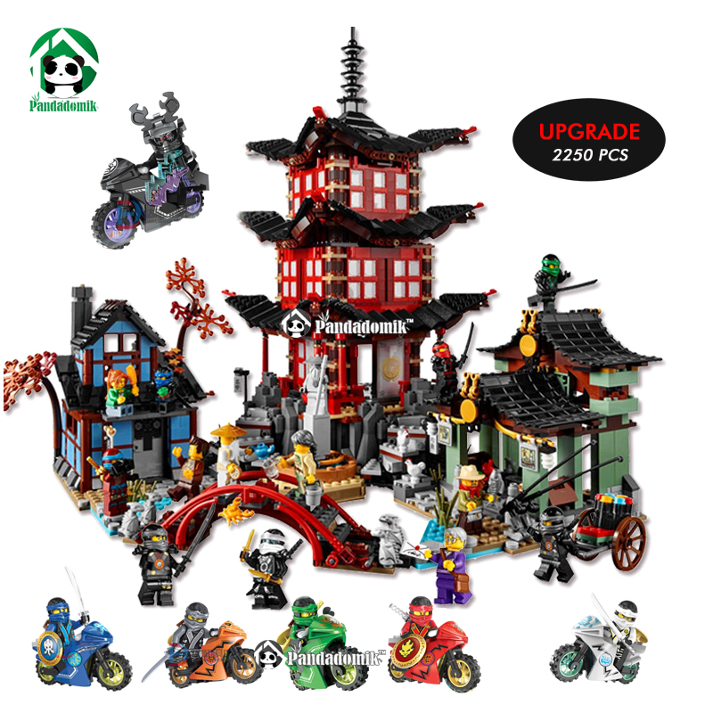 Ninja Upgrade Version Super Large Temple of Airjitzu Ninjagoes 2250pcs Building Toy Blocks Set Bricks Compatible