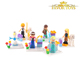 Intelligence toy bricks funny ABS figure blocks play set for girls