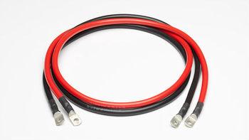 cable de tubería zapato m8 250cm 2,5m batería cable cable plus 35mm² rojo 2x