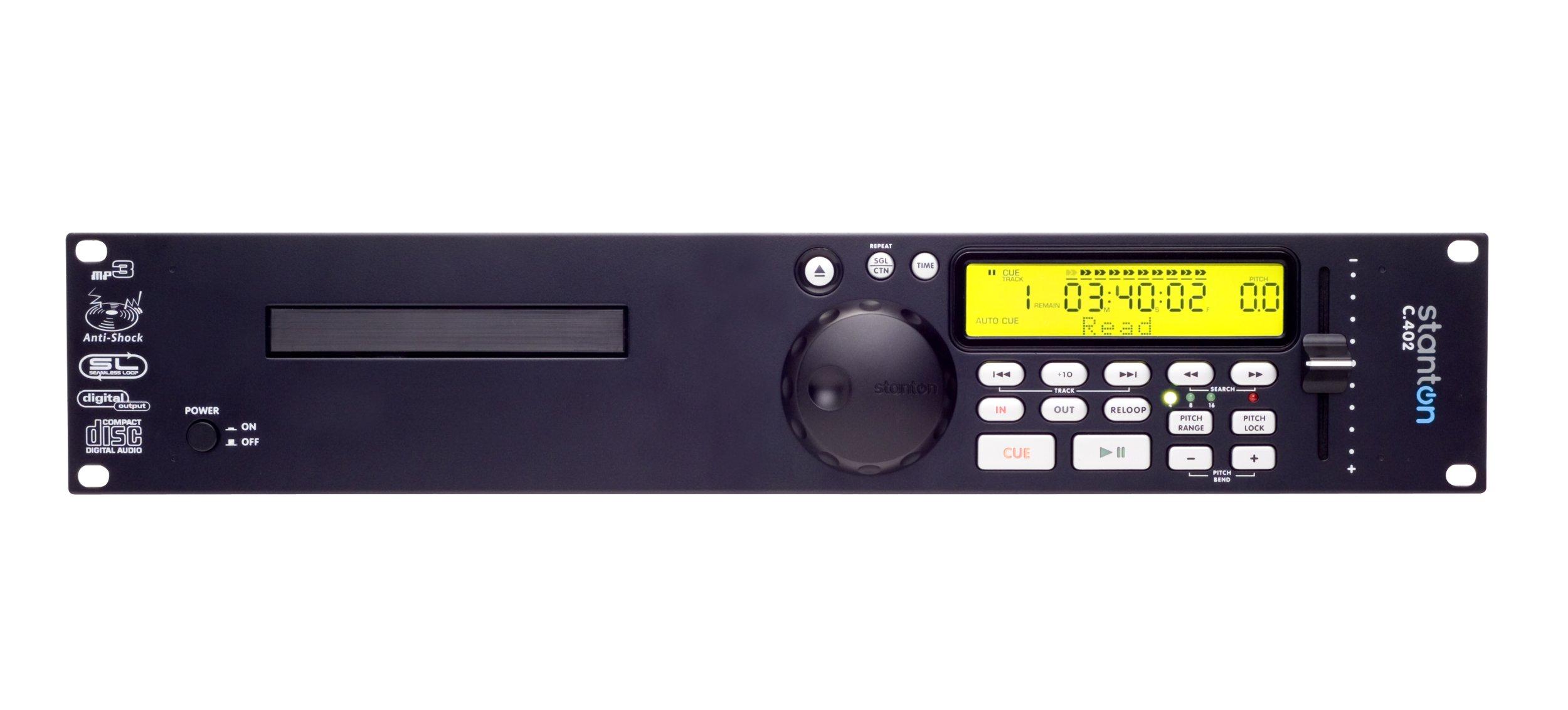 Stanton C402 Rackmountable DJ CD Player with MP3 Playback