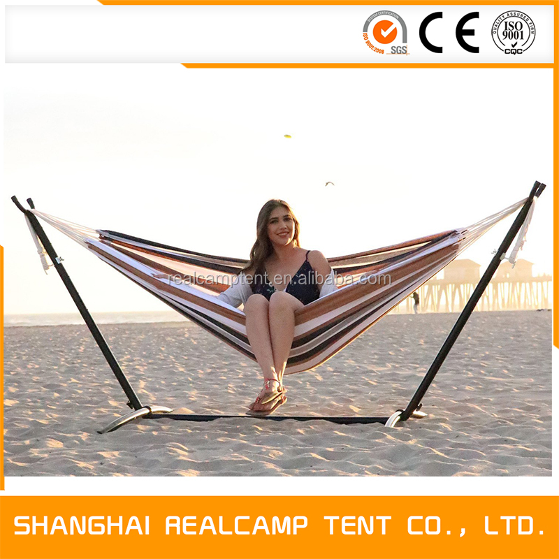 9ft Camping Double Hammock Swing with Space-Saving Steel Frame Stand