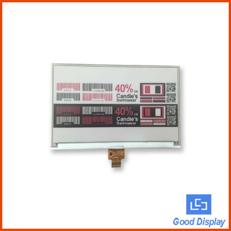 3-colors 7.5 inch SPI interface e paper display for electronic shelf lable