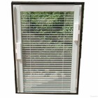 manual hollow button venetian blinds in double glass for the sliding door and intergrade window
