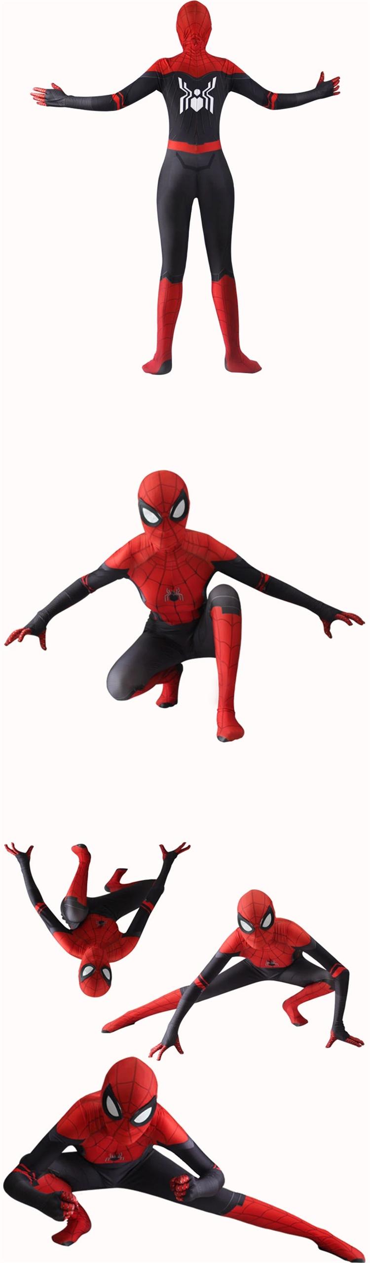 2019 新遠ホームクモ詩からマイルモラレス大人父子供子供スーツ家族衣装スパイダーマン