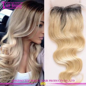 1b T 613 Blonde Color Remy Malaysian Hair Lace Ombre Hair Extension