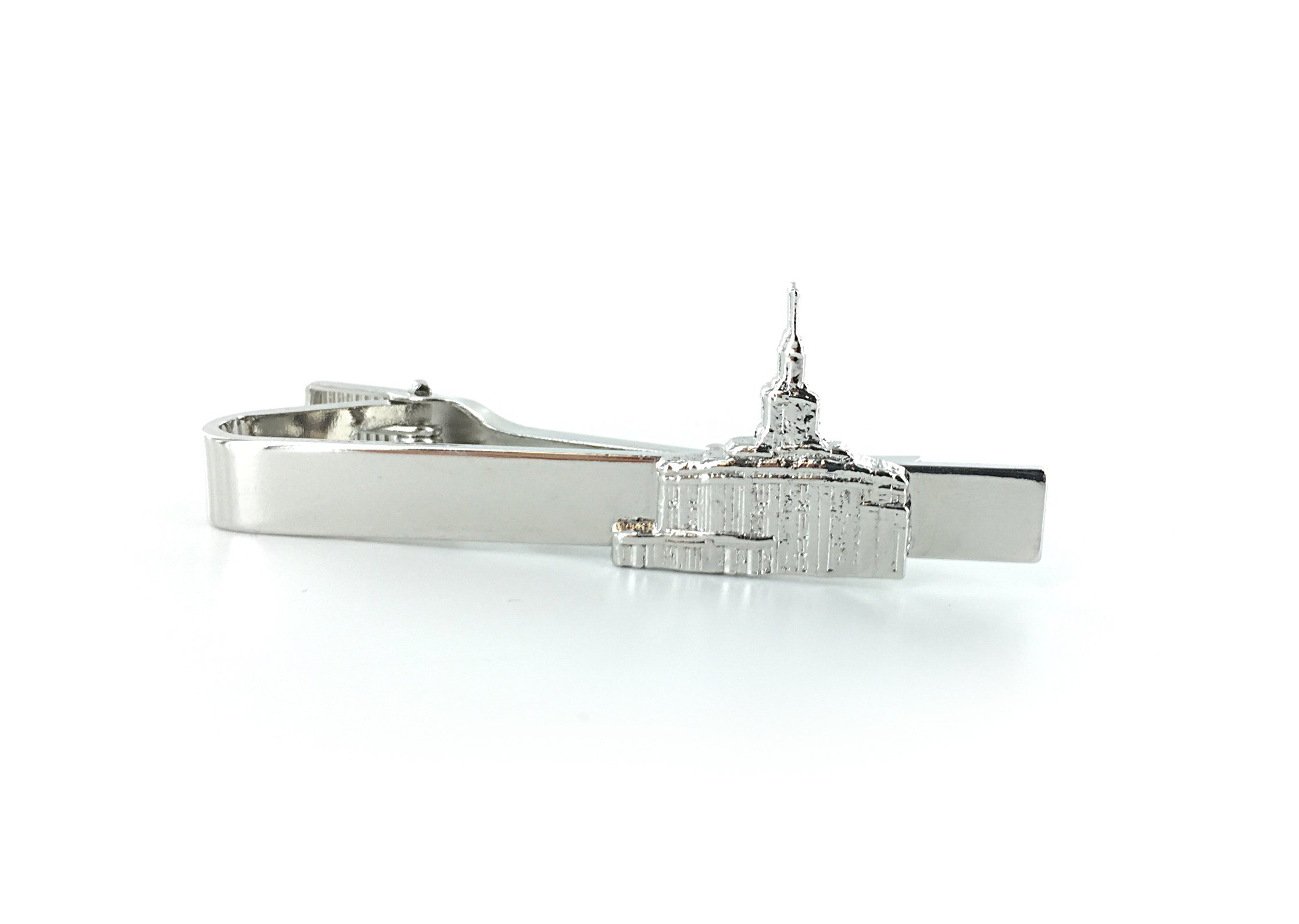 Get Quotations · LDS Temple Tie Bar/Tie Clip - All-Metal - Chrome Finish - LDS