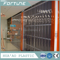 PVC Plastic Strip Door Curtain Roll Ribbed