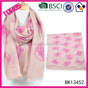 Hight Quality Lady Scarf,Women Cat Printing Scarf, Scarf Factory China