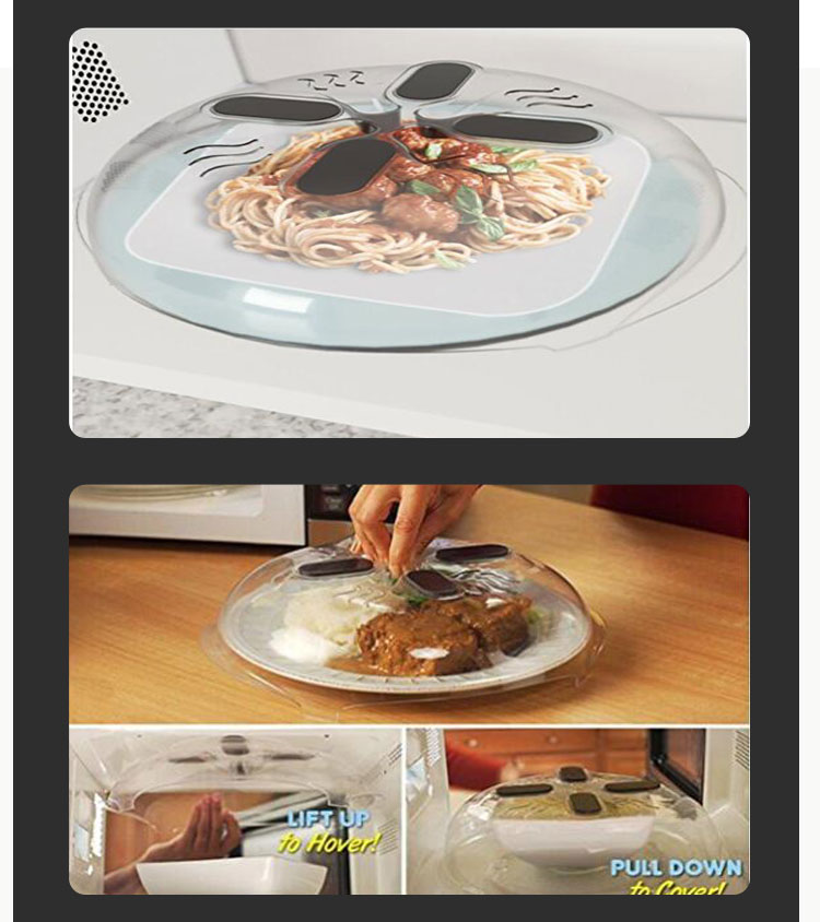 As Seen On Tv Magnetic Microwave Splatter Guard Food Anti