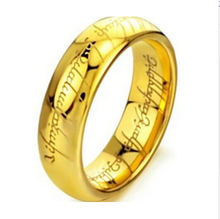 Classic Man & Women Ring Hobbit Lord Rings Gold & Silver Of The Ring Vintage Jewelry Laser Engraved Stainless Steel Rings