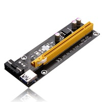 USB3.0 PCI-E PCI Express 1X to 16X Riser Card Adapter
