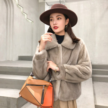 Custom Wholesale high quality New Design Womens natural coat fur Mink