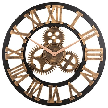Frameless handicraft themes 30 inch extra large best premium yiwu mold metal wood gear wall clock