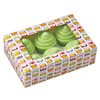 Wholesale Custom Printed Colourful Food Grade Kraft Paper Cupcake Box Cheap Wedding Clear Cup Cake Box