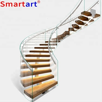 9001b Series Single Stringer Curved Staircase - Buy Wood Stair Design,Glass  Wood Stairs,Stairs Suppliers Product on Alibaba com