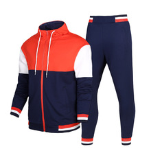 Slim fit color combination mens tracksuit for training wear