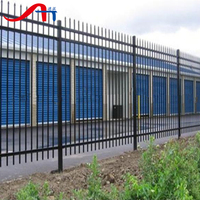 USA style long black ornamental iron fencing for football,stadium,exterior,residence,garden(China Factory)