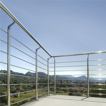 Stainless Steel Staircase Railing With Brass Stair Handrails