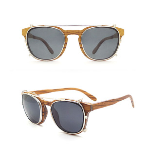 ccb9b1f6f36 Wooden Bamboo China Wholesale OEM Custom Brand Logo Wood Sunglasses Clip On Sun  Glasses Manufacturer